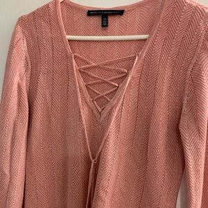 WHBM salmon color lightweight knit tunic